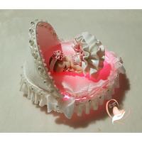 Veilleuse couffin lumineux bébé fille - au coeur des arts