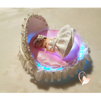 2A-au coeur des arts-Veilleuse couffin lumineux bebe fille