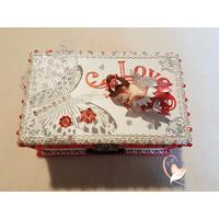 Boîte à musique bébé fille rose et blanche fée clochette- au cœur des arts