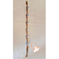 Bracelet  plaqué or - au coeur des arts