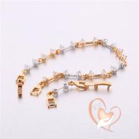 Bracelet plaqué argent et plaqué or multi zircon - au cœur des arts