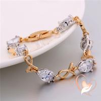 Bracelet plaqué or et plaqué or blanc motif style poisson cristal Swarovski - au coeur des arts