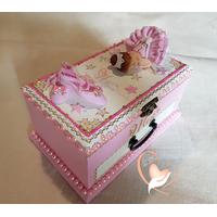 Boîte à musique rose bébé fille ballerine cristal- au coeur des arts