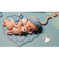 114B-au coeur des arts-Carrousel musical Veilleuse lampe lumineuse sur socle en bois bebe garçon