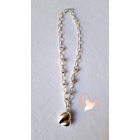Collier argent chaine coeur