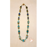 Collier perles Polaris bleues