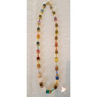 Collier perles polaris multicolore