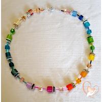 Collier perles polaris multicolore argent