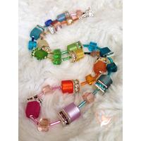 Collier perles polaris multicolores - argent