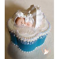 Boîte à dents de lait en forme de fleur bébé fille - au coeur des arts
