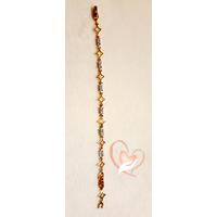 Bracelet  plaqué or orné de petites étoiles- au coeur des arts