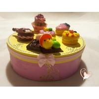 Boîte à biscuits ou chocolats - au coeur des arts