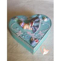 Boîte de naissance bleue lagon - au coeur de arts