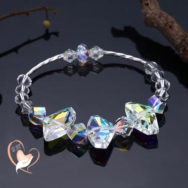 120-au coeur des arts-bracelet perles cristal argent