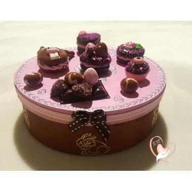 34-Boîte à biscuits ou chocolats - au coeur des arts