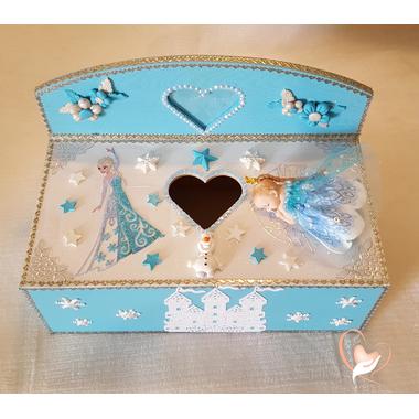 1B-Boîte à lingettes ou mouchoirs reine des neiges- au coeur des arts