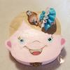 Boîte à dents de lait bébé fille robe bleue et blanche - au cœur des arts