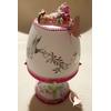 Lampe de chevet blanche bébé fille rose et verte - au cœur des arts
