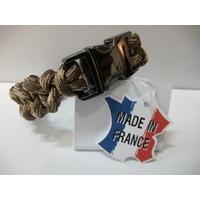 Paracord Piranha Desert Camo Wristband