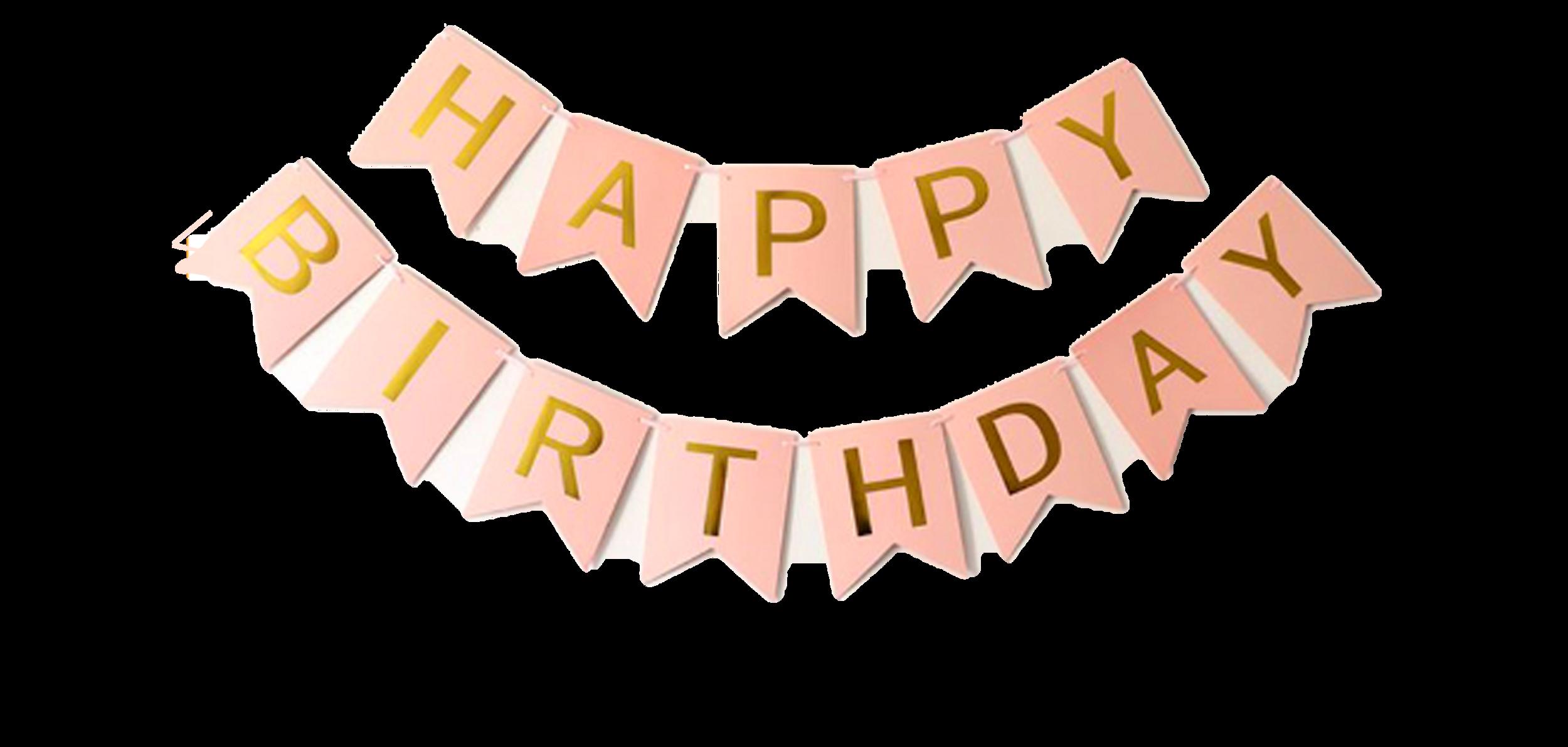 guirlande happy birthday PNG