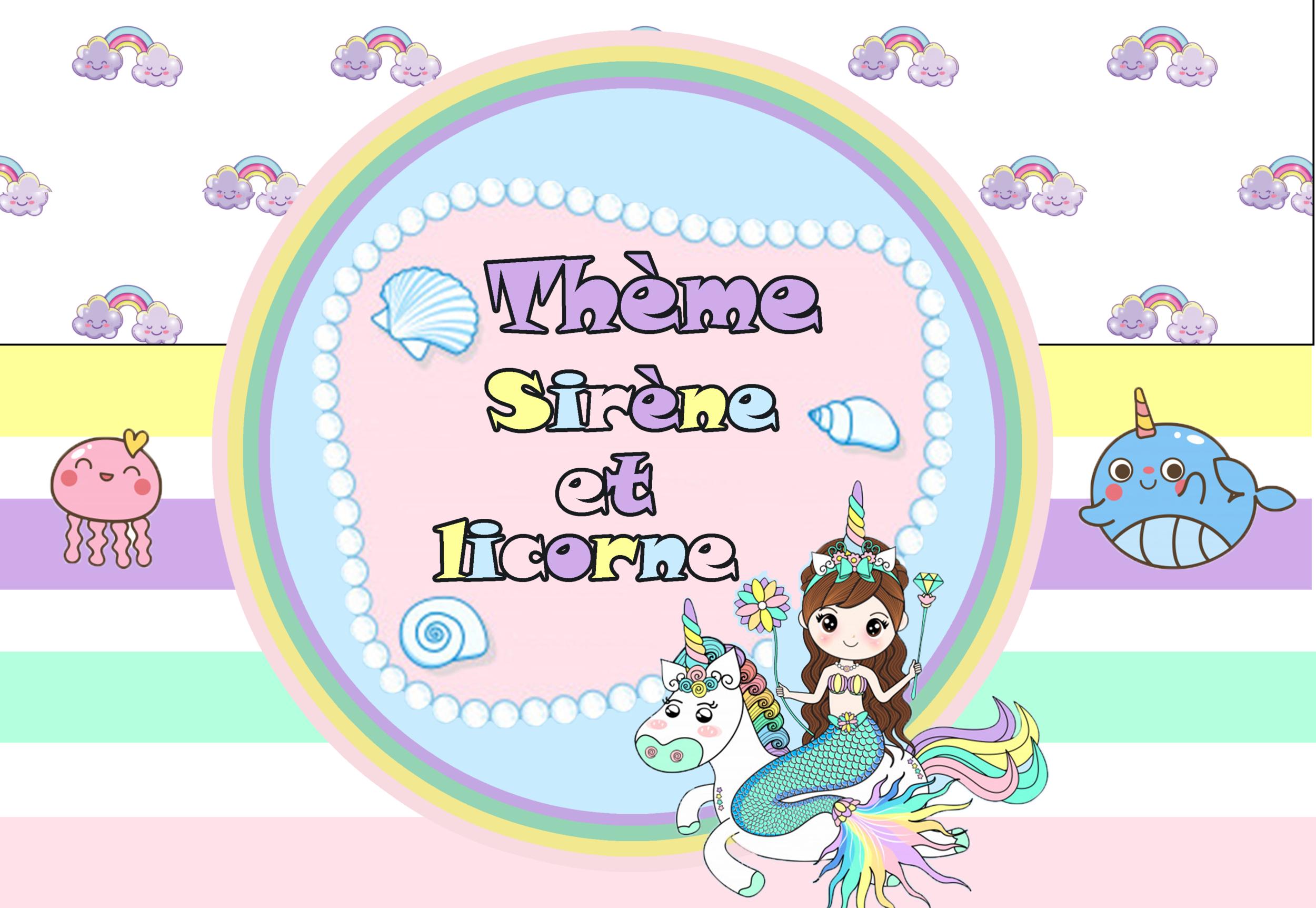 planche insi sirene et licorne
