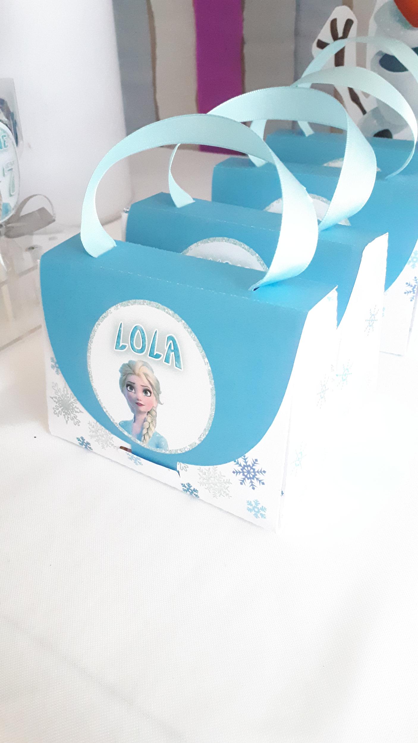 sac personnalisé reine des neige -ohpartybox