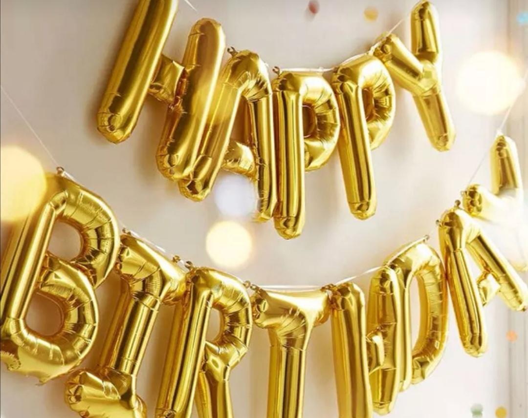 guirllande de ballon happy birthday or - oh party box