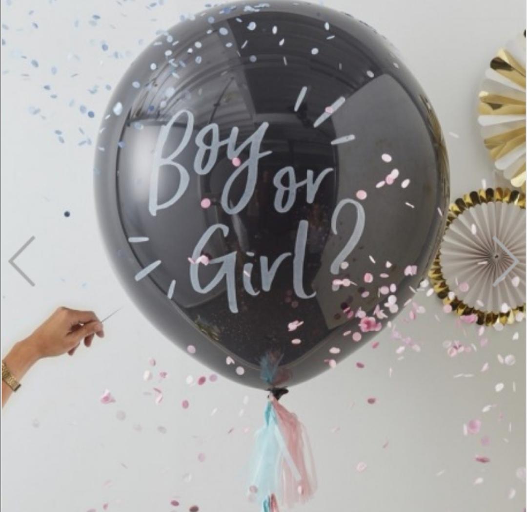 Ballon revelation du sexe confetti rose ou bleu
