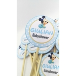 Toppers personnalisée theme mickey baby -ohpartybox