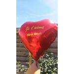 Ballon personalisé coeur rouge -ohpatybox