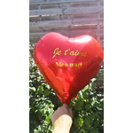 Ballon personnalisée coeur