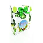 Pochette cadeau thème tropical toucan-ohpartybox