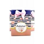 Pochette cadeau thème marin et coeur personnalisé-ohpartybox