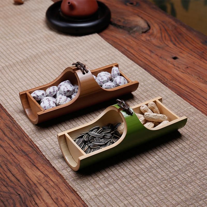 Handmade Natural Bamboo Snack Plates