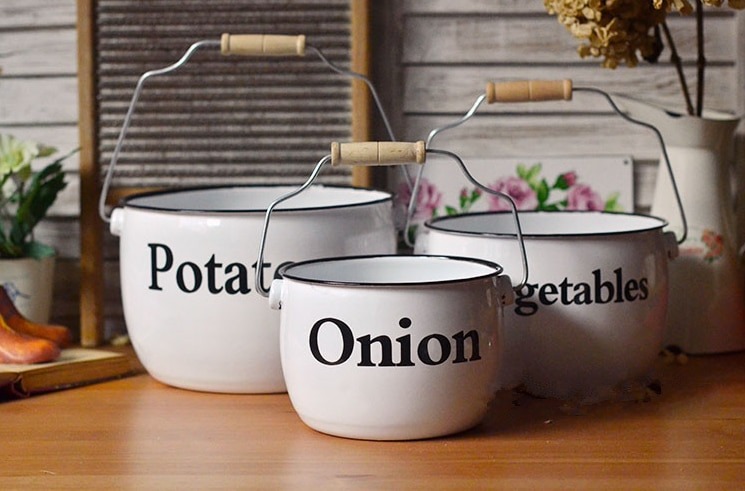 Enamel-Storage-Bucket-Vegetable-Bucket-Vegetable-Bowl