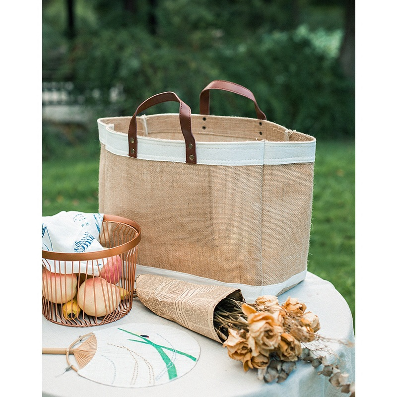 Large picnic style shopping bag