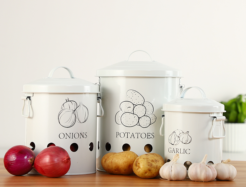 Potatoes & Onions Storage jars
