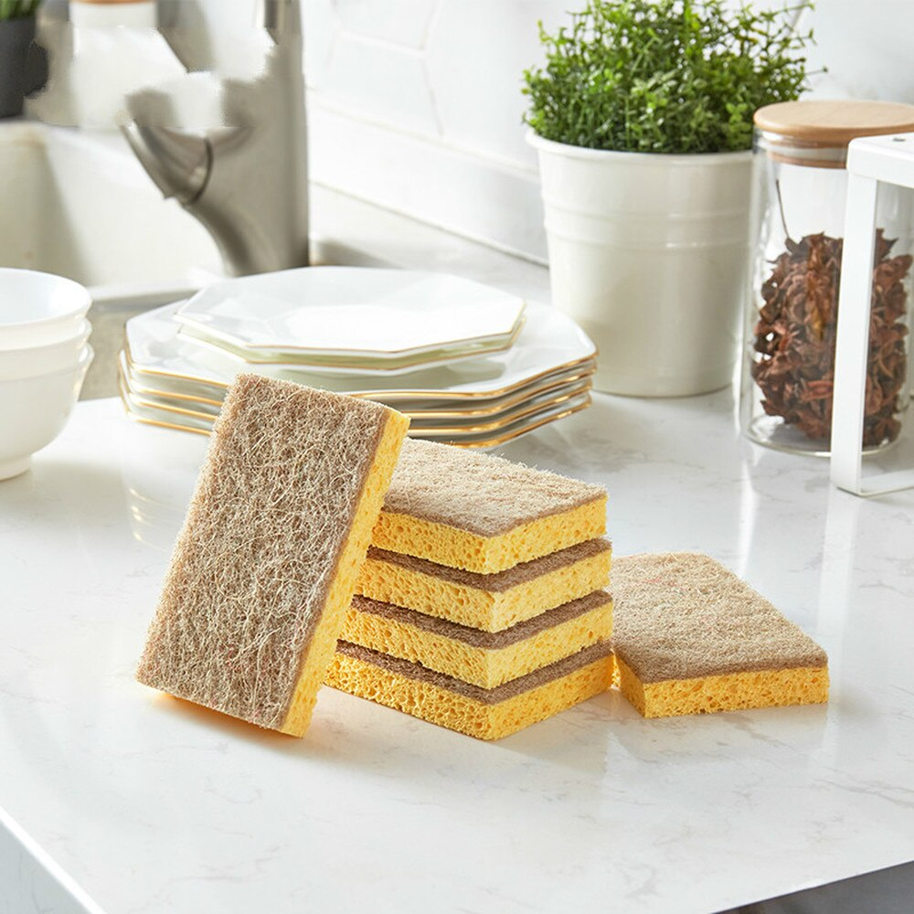 Natural Wood Pulp Sponges /4PCS