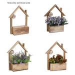 Wall-mounted-Cottage-Fleshy-Flower-Pot-Wooden-Wall-hanging-Plant-pot-Artificial-flowers-Baskets-Hanging-Bonsai