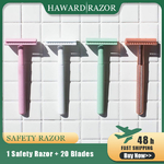 HAWARD-Double-Edge-Safety-Razor-For-Men-8-Colors-Women-Hair-Removal-Shaver-Classic-Manual-Shaving