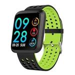 montre sport connectée avec bracelet vert