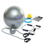 équipement de fitness complet avec un ballon de gym et un élastique de fitness