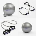 kit ballon de gym et élastique de fitness