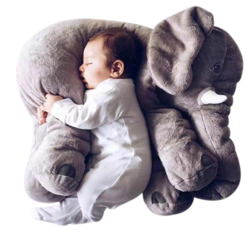 Le plus doux des oreillers peluches, l\'éléphant géant