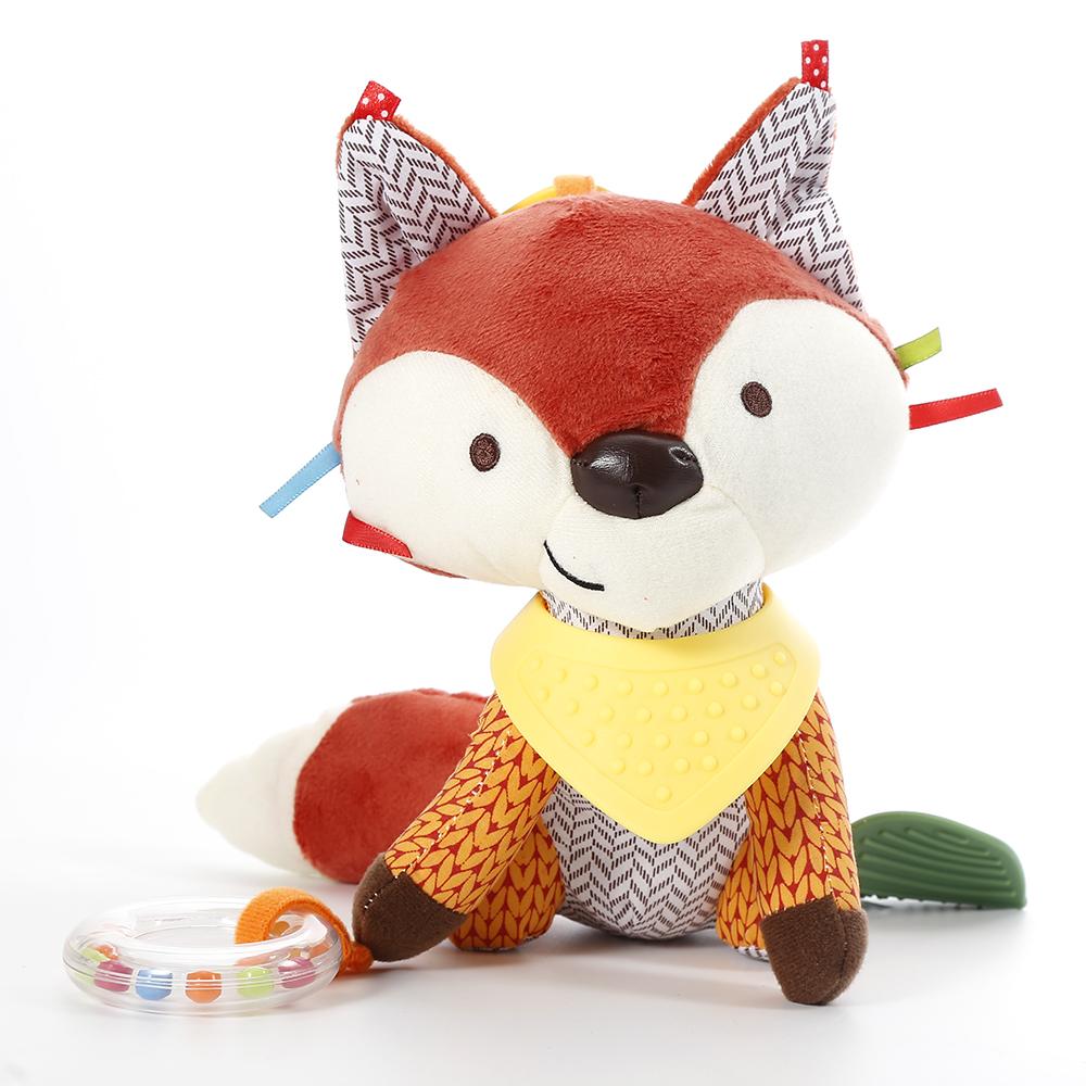 Chaude-b-b-mignon-renard-hochets-nourrissons-Animal-poussette-voiture-jouets-Clip-tour-suspendu-si-ge
