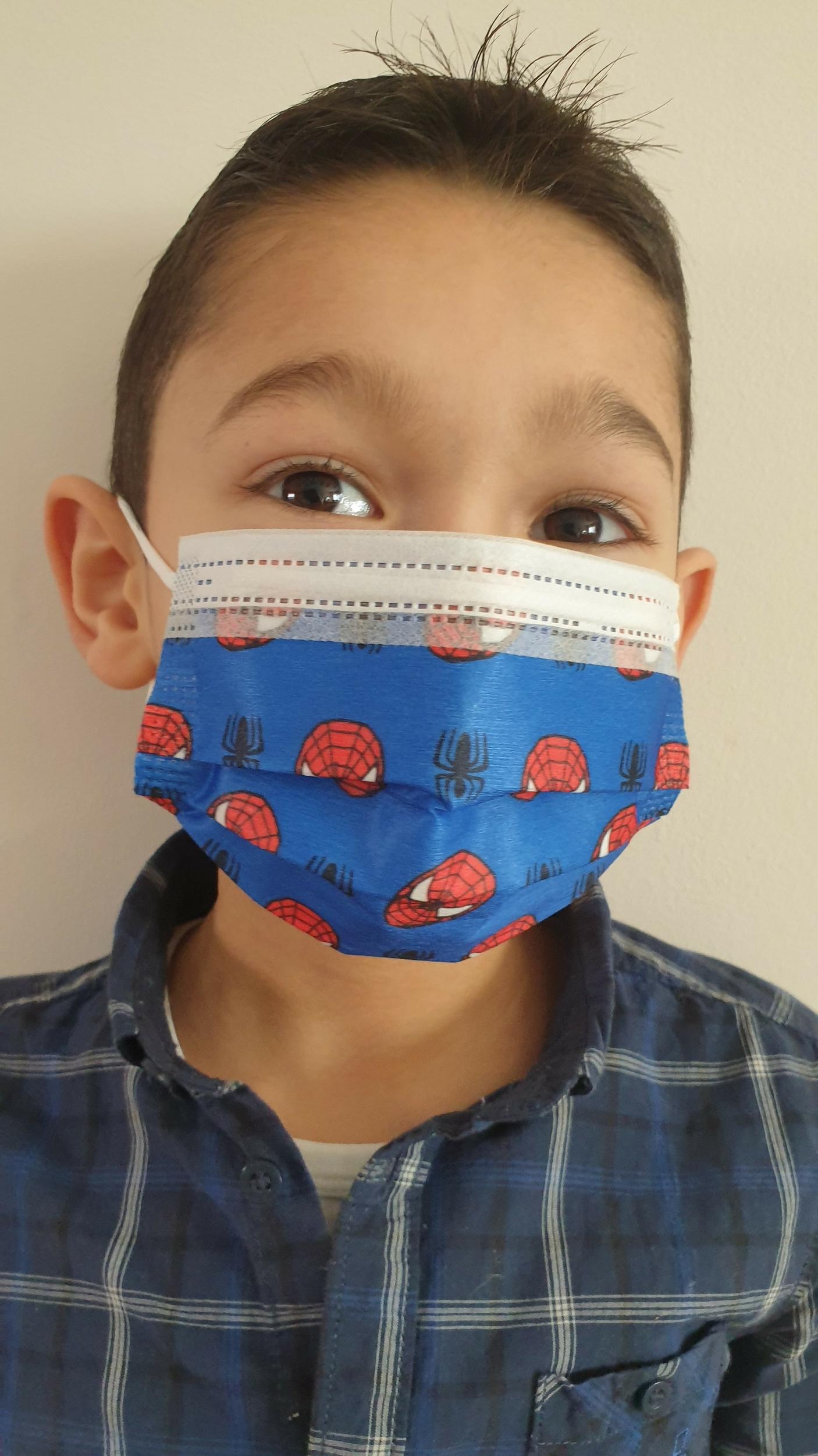 Masques chirurgicaux jetables Spiderman pour enfants