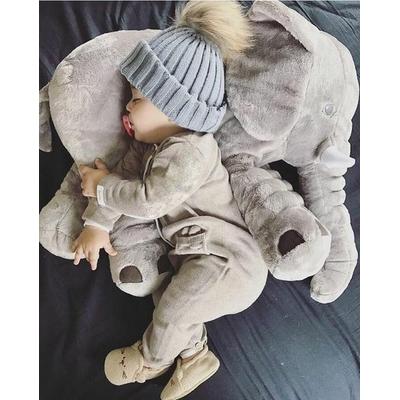 Le plus doux des oreillers peluches, l'éléphant géant