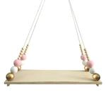 Enfants-b-b-chambre-Style-nordique-perle-en-bois-glands-perles-en-bois-planche-suspendue-tag