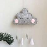 Tentes-d-cor-Style-nordique-nuage-gouttes-de-pluie-guirlande-b-b-chambre-d-corations-murales