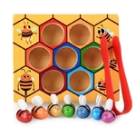Jouets-ducatifs-pench-s-en-bois-Montessori-jeux-de-ruche-d-abeille-travailleur-85